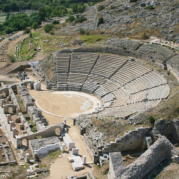 The ancient theatre at Phillipi near Kavala, a stop on the ASIT St Paul Greece pilgrimage tour