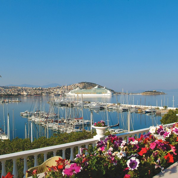 Boats & ship in Kusadasi port & harbour, a stop on ASIT's 7 day Athens Greek islands & Turkey cruise