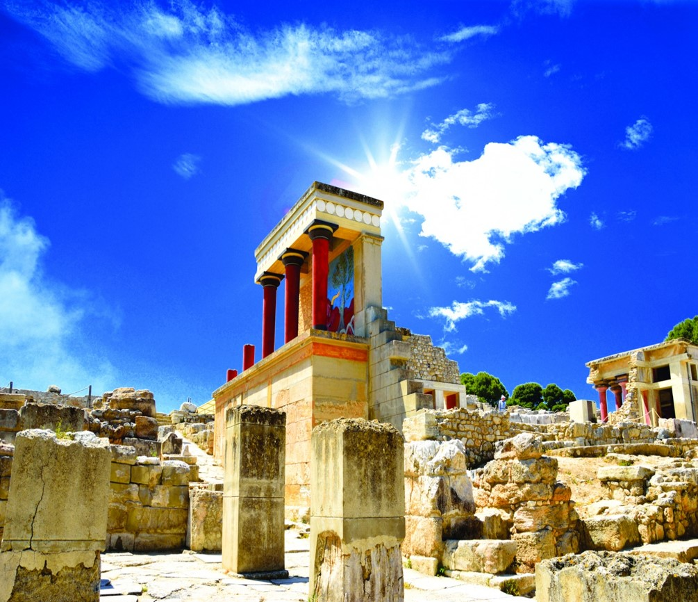 One of the ASIT Crete full & half day tours includes a trip to the Minoan Palace at Knossos
