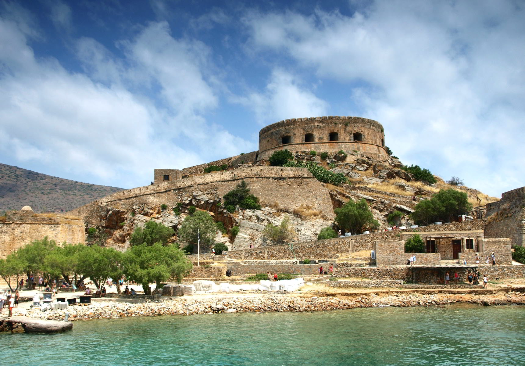 The Venetian fortress on the island of Spinalonga, part of the ASIT Crete tours packages