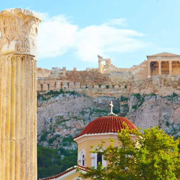 View of the Parthenon in Athens, one of the sights on the ASIT 3 day Athens city break tour package