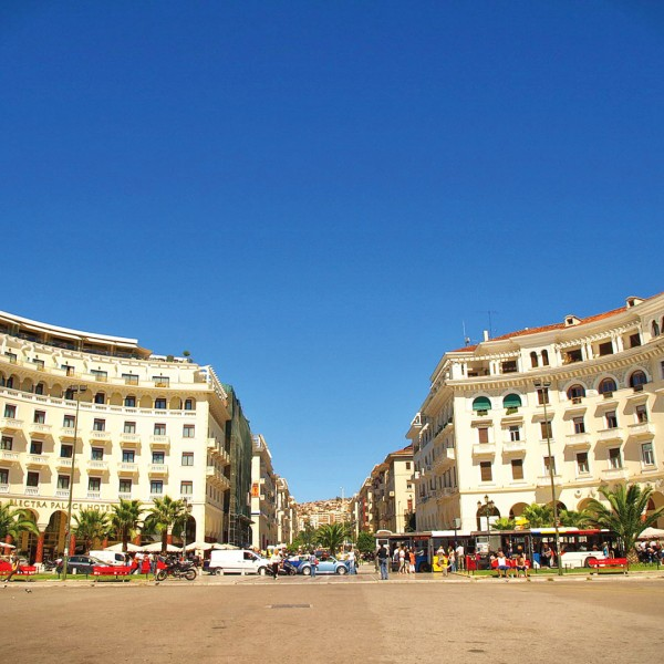 Aristotelous Square in Thessaloniki is at the start of the ASIT 9 day Greece Mainland Tour Package