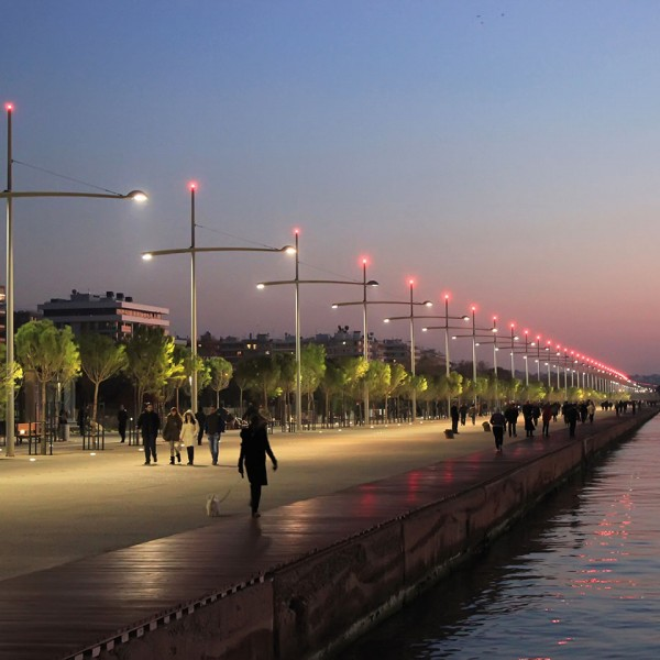 The waterfront of the city of Thessaloniki at dusk, a stop on the ASIT Greece mainland tour package