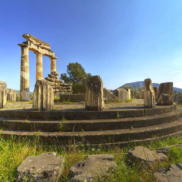 The Temple of Apollo at Delphi features on the ASIT 5 day winter history tour from Athens to Meteora