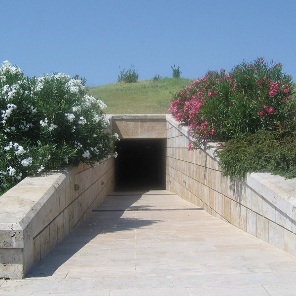 King Philip II's tomb in Vergina is an attraction on the Footsteps of St Paul Greece tour package